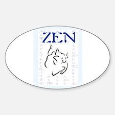 ZEN KITTY Sticker (Oval)