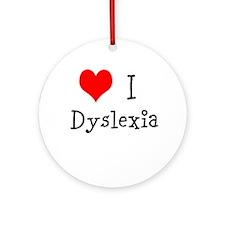 3 I Dyslexia Ornament (Round)