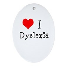 3 I Dyslexia Ornament (Oval)
