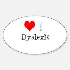 3 I Dyslexia Decal