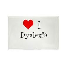 3 I Dyslexia Rectangle Magnet