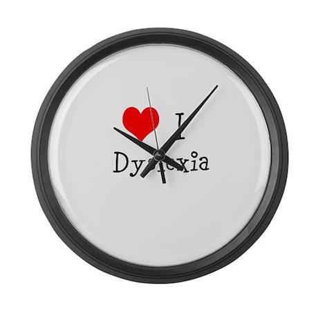 3 I Dyslexia Large Wall Clock