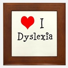3 I Dyslexia Framed Tile