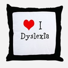 3 I Dyslexia Throw Pillow