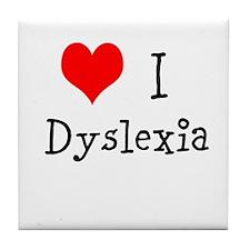 3 I Dyslexia Tile Coaster