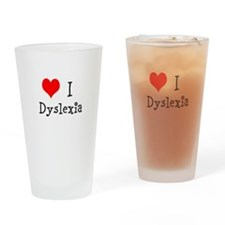 3 I Dyslexia Drinking Glass