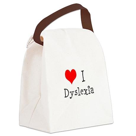 3 I Dyslexia Canvas Lunch Bag