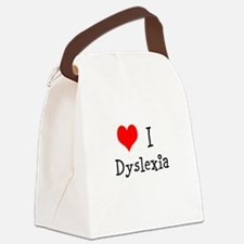 3 I Dyslexia Canvas Lunch Bag