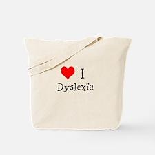 3 I Dyslexia Tote Bag