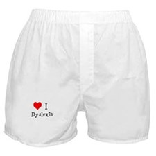 3 I Dyslexia Boxer Shorts