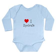 3 I Dyslexia Long Sleeve Infant Bodysuit