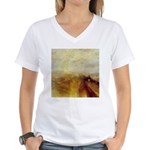 Rain, Steam and Speed by Turner Women's V-Neck T-S