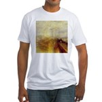 Rain, Steam and Speed by Turner Fitted T-Shirt
