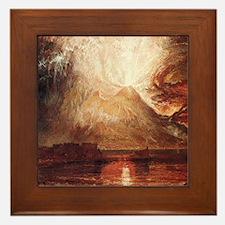 Mount Vesuvius in Eruption by Turner Framed Tile