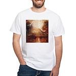 Mount Vesuvius in Eruption by Turner White T-Shirt