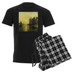 Caernarvon Castle by Turner Men's Dark Pajamas