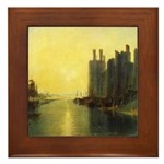 Caernarvon Castle by Turner Framed Tile