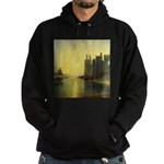 Caernarvon Castle by Turner Hoodie (dark)