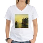 Caernarvon Castle by Turner Women's V-Neck T-Shirt