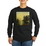 Caernarvon Castle by Turner Long Sleeve Dark T-Shi