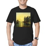 Caernarvon Castle by Turner Men's Fitted T-Shirt (