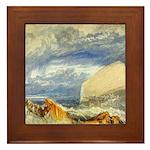 Bass Rock in Scotland by Turner Framed Tile