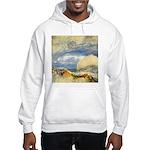 Bass Rock in Scotland by Turner Hooded Sweatshirt
