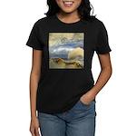 Bass Rock in Scotland by Turner Women's Dark T-Shi