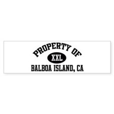 Property of BALBOA ISLAND Bumper Bumper Sticker