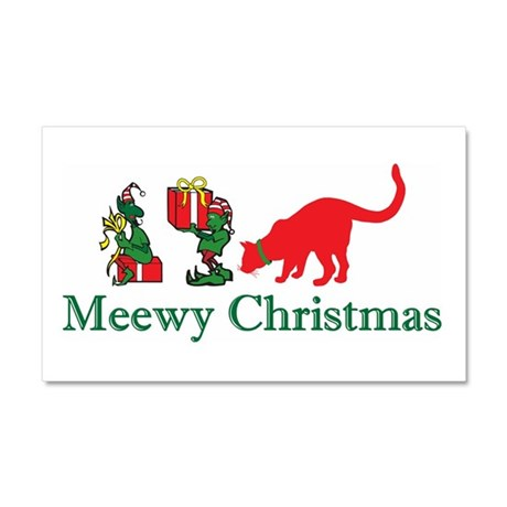 Christmas Kitty Cats Car Magnet 20 x 12