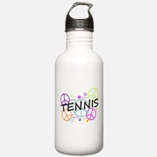 Colored Peace Signs Tennis Water Bottle