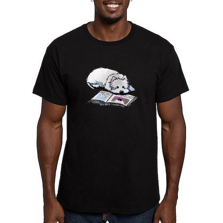 Book Lover Wendell Westie Men's Fitted T-Shirt (da