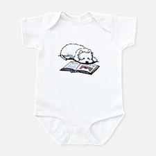Book Lover Wendell Westie Infant Bodysuit