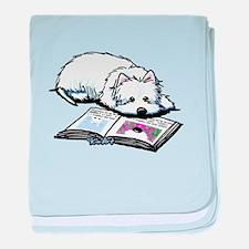 Book Lover Wendell Westie baby blanket