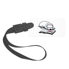 Book Lover Wendell Westie Luggage Tag
