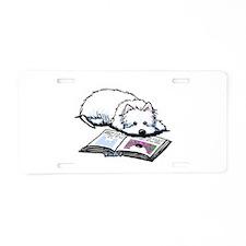 Book Lover Wendell Westie Aluminum License Plate