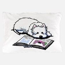 Book Lover Wendell Westie Pillow Case