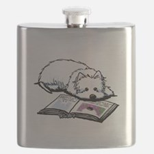 Book Lover Wendell Westie Flask