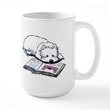 Book Lover Wendell Westie Mug