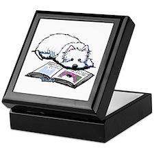 Book Lover Wendell Westie Keepsake Box