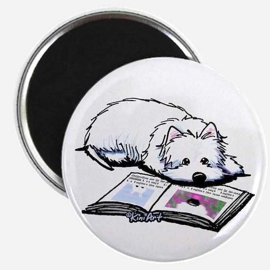 Book Lover Wendell Westie Magnet