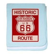Los Angeles Route 66 baby blanket