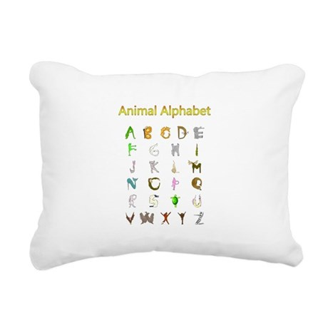 Animal Alphabet Rectangular Canvas Pillow
