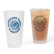 Hurricane Sandy Survivor 2012 Drinking Glass