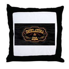 smoklahoma logo Throw Pillow
