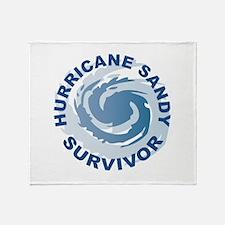 Hurricane Sandy Survivor 2012 Throw Blanket