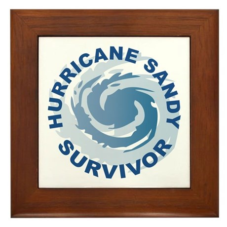 Hurricane Sandy Survivor 2012 Framed Tile