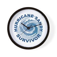 Hurricane Sandy Survivor 2012 Wall Clock