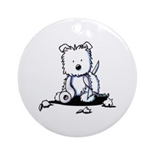 TP Muggles Westie Ornament (Round)