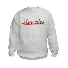 Mercedes, Vintage Red Sweatshirt